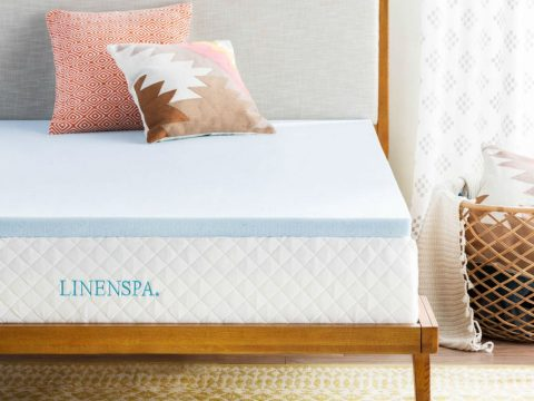 LINENSPA 2 Inch Gel Infused Memory Foam Mattress Topper Review